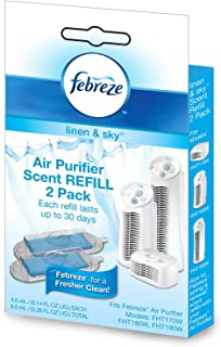 Febreze HWLFRF102L Scent Refill, Linen and Sky, 2-Pack FRF102L, White