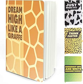 A5 Notebook with Inspirational Positive Quote - 4 Pack Funny Ruled Hardcover Journals with Classic Elastic Closure-A5 Thic...