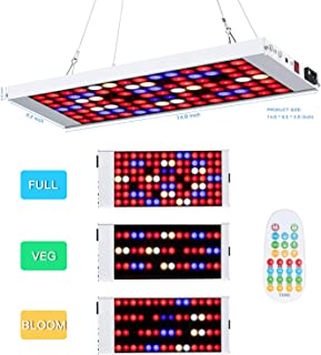 Led Grow Light,300W 98 Led Growing Lamp Remote Control and time Setting dimmable Full Spectrum Indoor Plants Seedling Greenhouse Hydroponic Plants from Seeding to Harvest, Multiple Panels Can Be Conn
