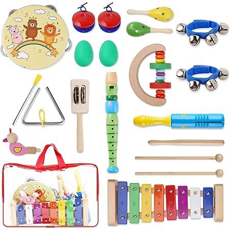 Jojoin 24 Pcs Juguetes Instrumentos Musicales, 14 Tipos de ...