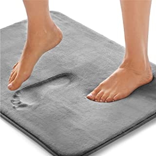 Gorilla Grip Original Thick Memory Foam Bath Rug, 60×24, Cushioned, Soft Floor Mats,..