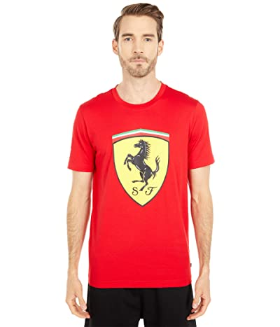 PUMA Ferrari Race Big Shield Tee+ (Rosso Corsa) Men