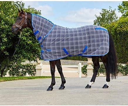 WEATHERBEETA Fleece Cooler Combo Neck Grey/Plaid 6'9 Horse Rug