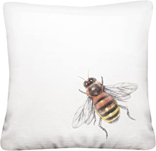 Mary Lake-Thompson Modern Bee 16-inch Square Cotton Pillow