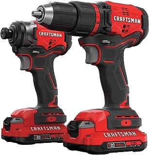 CRAFTSMAN V20 Cordless Drill Combo Kit, 2 Tool (CMCK210C2)
