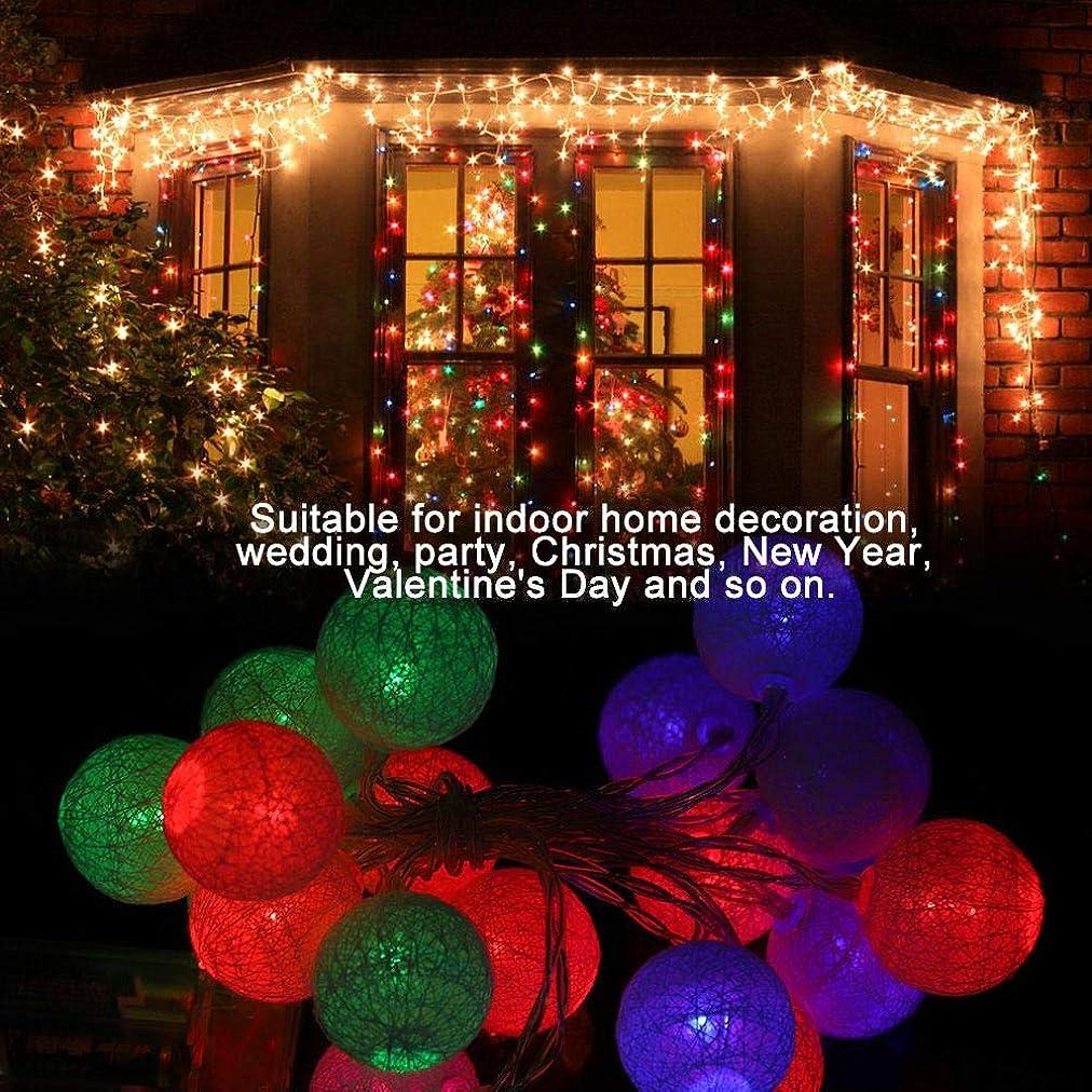 セラー作曲するバナークリスマス屋内寝室の装飾ボール、2M用20 LEDコットンボールストリングライト(クロマチック)