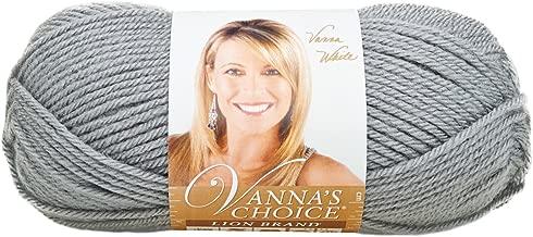 Lion Brand Yarn 860-149J Vanna's Choice Yarn, Silver Grey