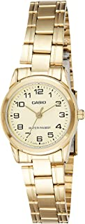 Casio Watch For Women Gold Dial Stainless Steel Band Dress - LTP-V001G-9B