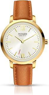 Emelia Monier W Palace Gold Tone Women's Watch with Brown Leather Strap EML001-02BR