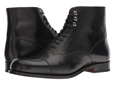 Grenson Leander Cap Toe Boot (Black Colarado) Men