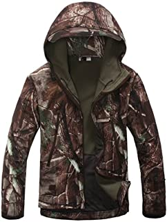 Eglemall Men's Outdoor Hunting Soft Shell Waterproof...