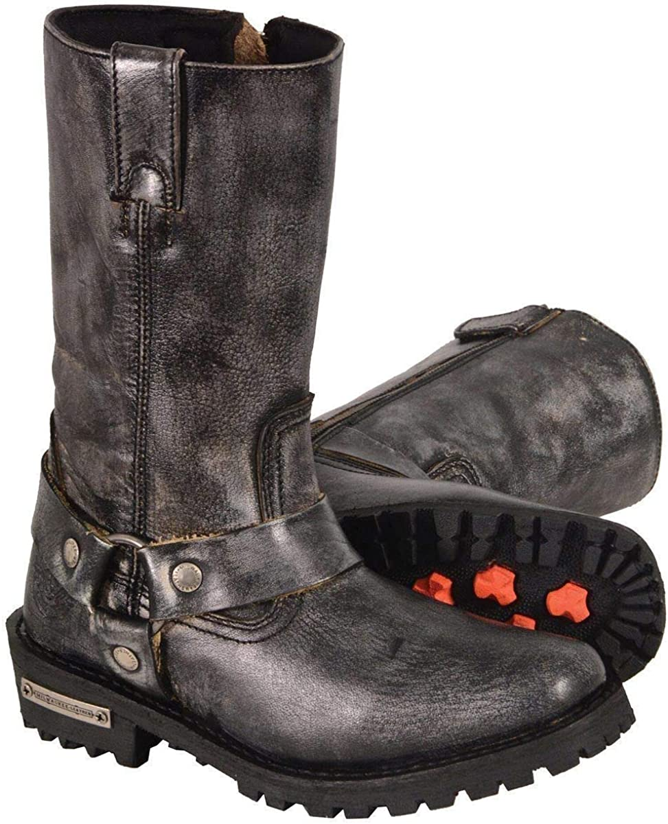 Milwaukee Leather MBL9362 Women's 11 Classi Inch Mesa Mall Now free shipping Distressed Grey