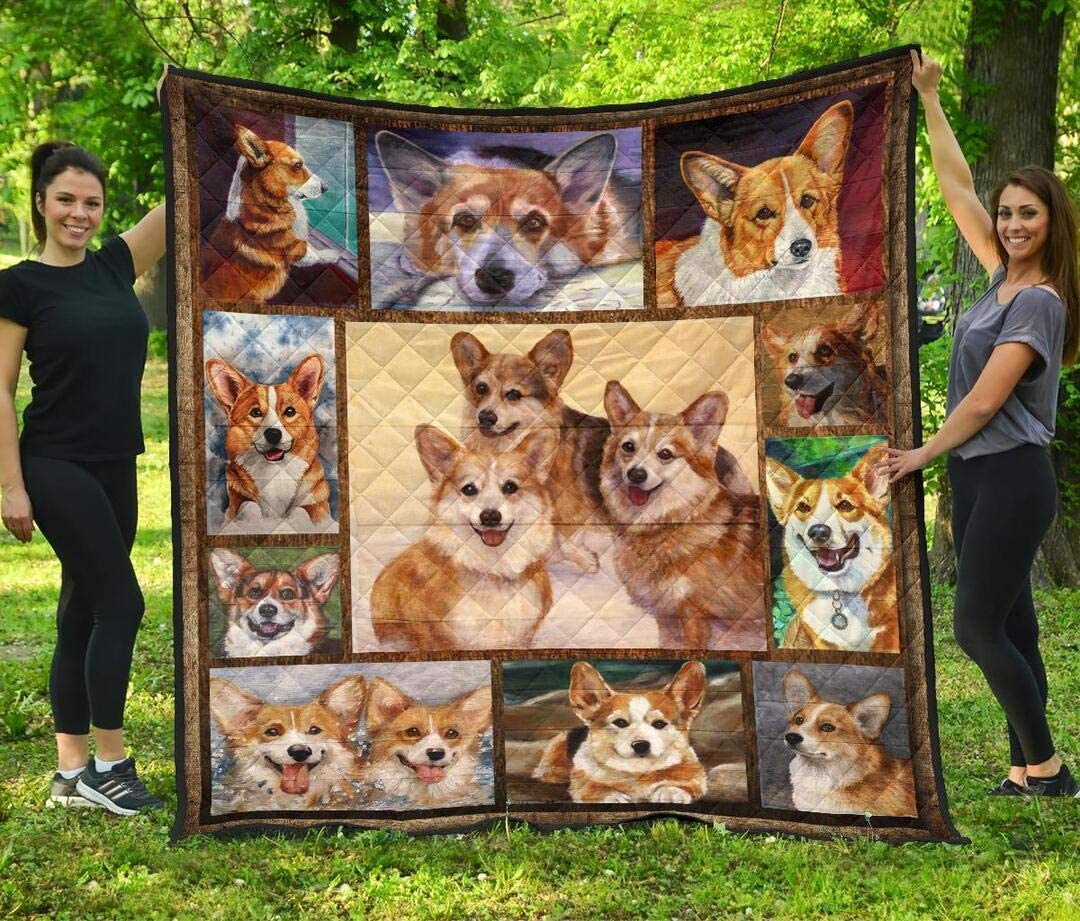 Personalized Indefinitely Corgi Quilt Valentine's Complete Free Shipping Day Daughter Gift K to Son