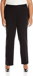 Rafaella Women's Plus Size Curvy Fit Gabardine Slim Leg Pant