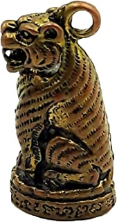 Brassy magic tiger brass pendant thai amulet strong life protection with box and necklace