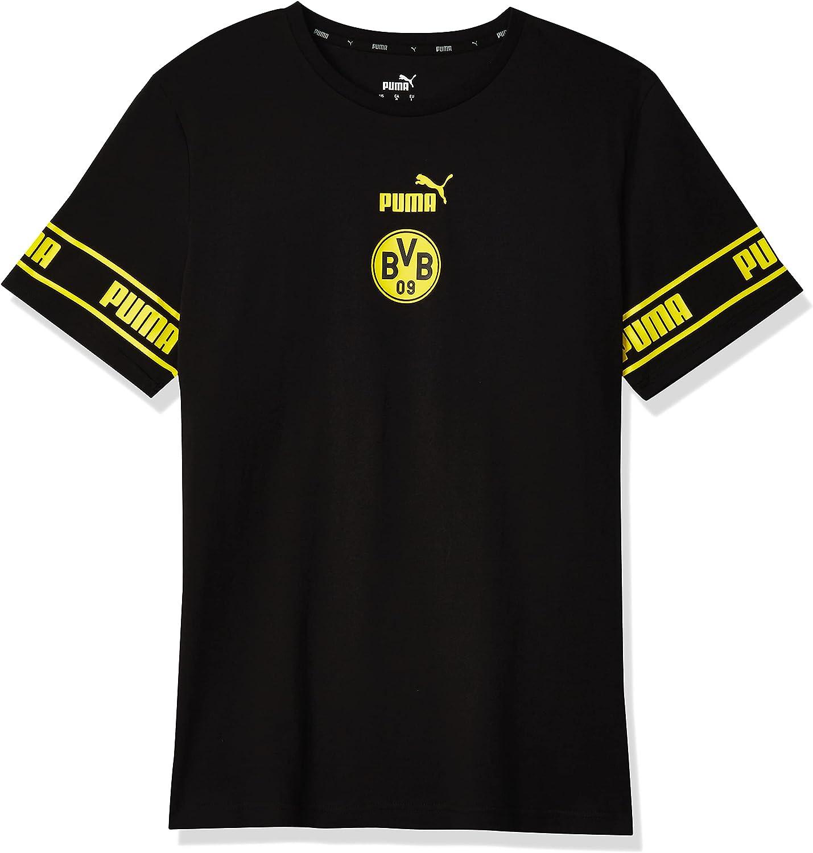 PUMA Men's Borussia Ftblculture Cheap mail order shopping Regular store Dortmund Tee