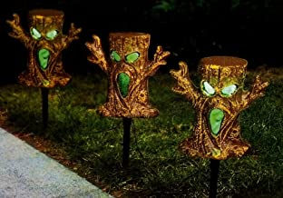 Halloween Spooky Trees Light Up Lawn Stakes Pathway Markers