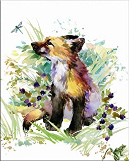 7Dots Art. Cute Baby Animals. Watercolor Art Print, Poster 8