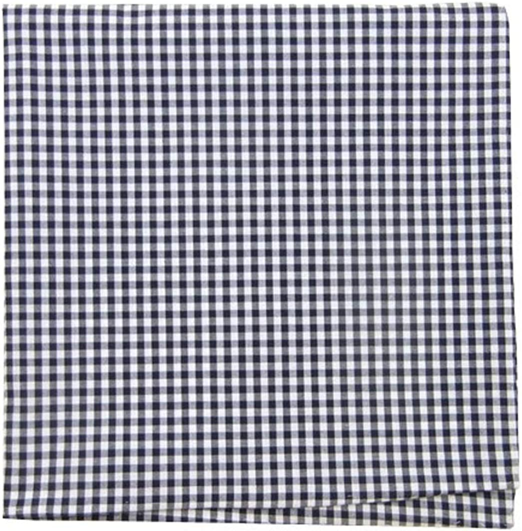 The Tie Bar 100% Cotton Navy Petite Gingham Pocket Square