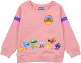 Hey Duggee Squirrel Club Girls Pink Long Sleeved Sweatshirt Kids Sweater