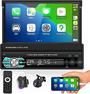 $128 » Car Stereo with Carplay Android auto Functions 7 Inch Foldable Capacitive Touch Screen Radio Supports FM Bluetooth Mirror ...