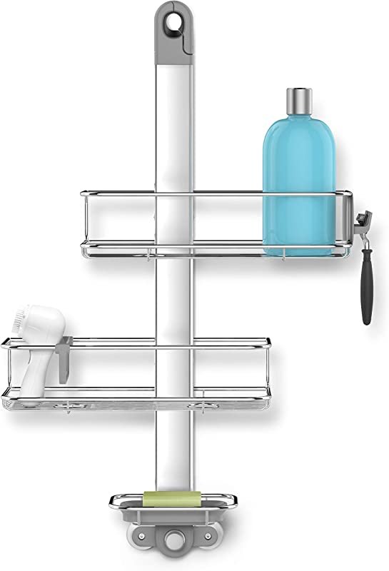 Simplehuman Adjustable Shower Caddy Stainless Steel Anodized Aluminum