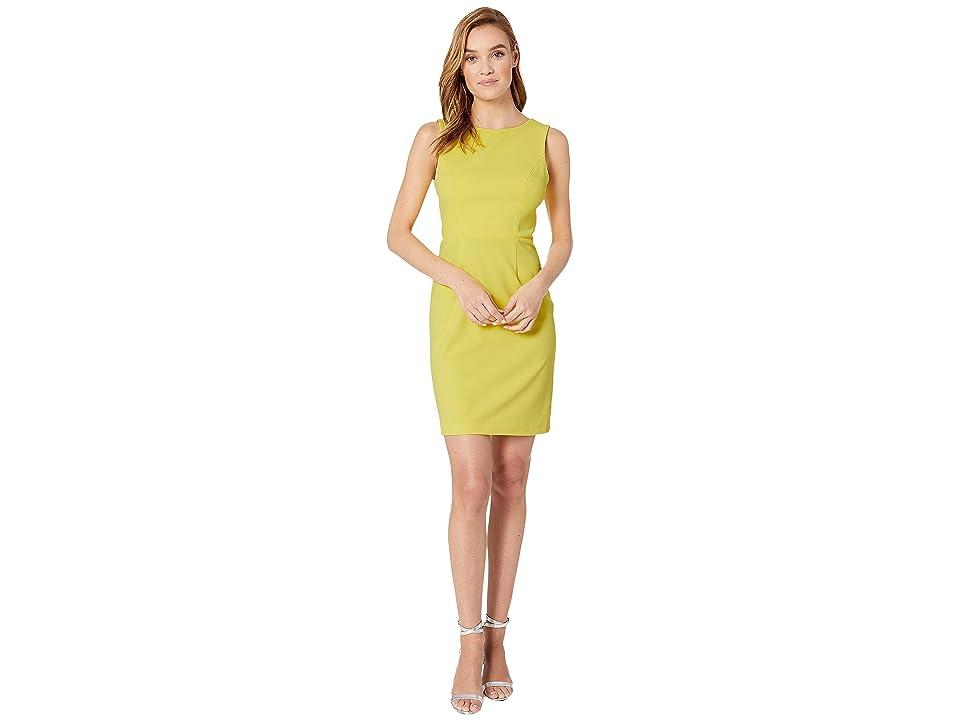 Betsey Johnson Scuba Crepe Cross-Back Dress (New Spring Sun) Women