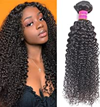 Angels Beauty 9A Brazilian Curly Hair Bundles 20Inch 100% Unprocessed Curly Weave Human Hair Bundles Soft Remy Hair Natural Black Color