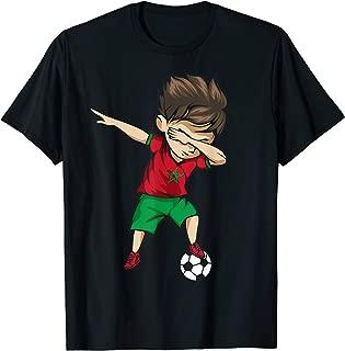 Dabbing Soccer Boy Morocco Jersey Shirt - Moroccan Football