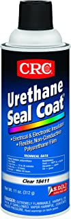 CRC Urethane Seal Coat Viscous Liquid Coating, 250 Degree F Maximum Temperature, 11 oz Aerosol Can, Clear - 18411