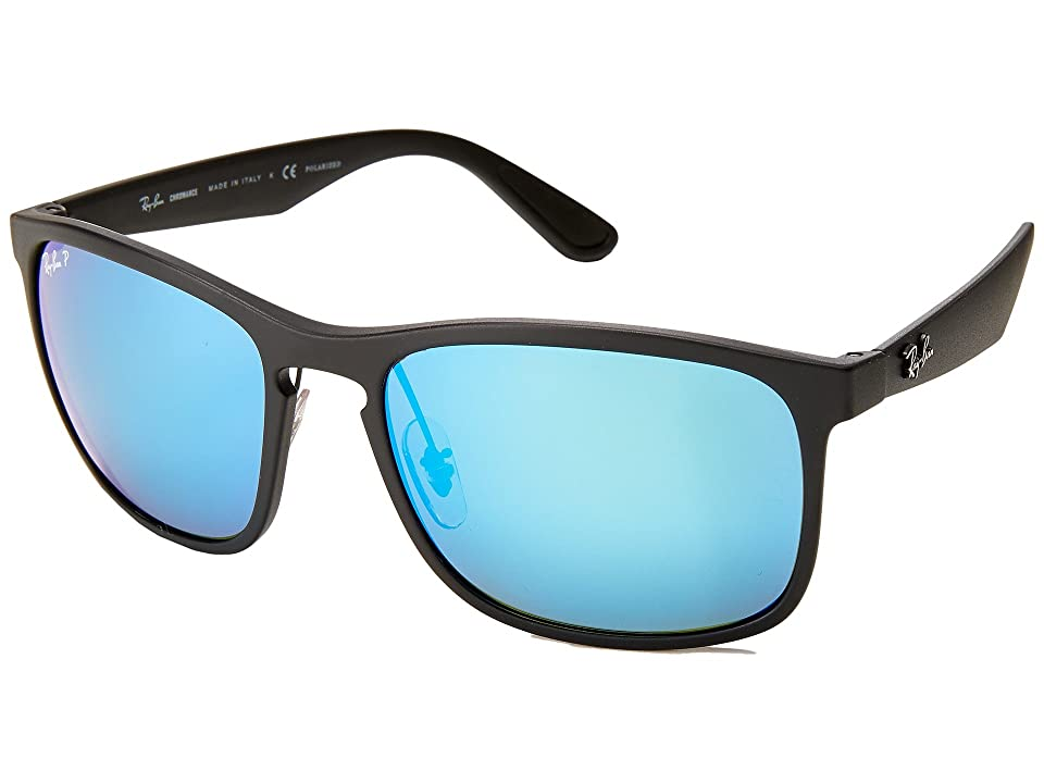 Ray-Ban 0RB4264 Polarized 58mm (Black/Blue Mirror) Fashion Sunglasses