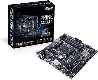 Asus Prime A320M A Mainboard Sockel AM4 (uATX, AMD A320, 4x DDR4 Speicher mit 3200 MHz, M.2, USB 3.1)