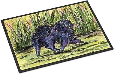 """Caroline's Treasures SS8444MAT Pomeranian Indoor Outdoor Doormat, 18"""" x 27"""", Multicolor"""