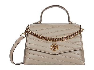 Tory Burch Kira Chevron Top-Handle Satchel (Gray Heron) Handbags