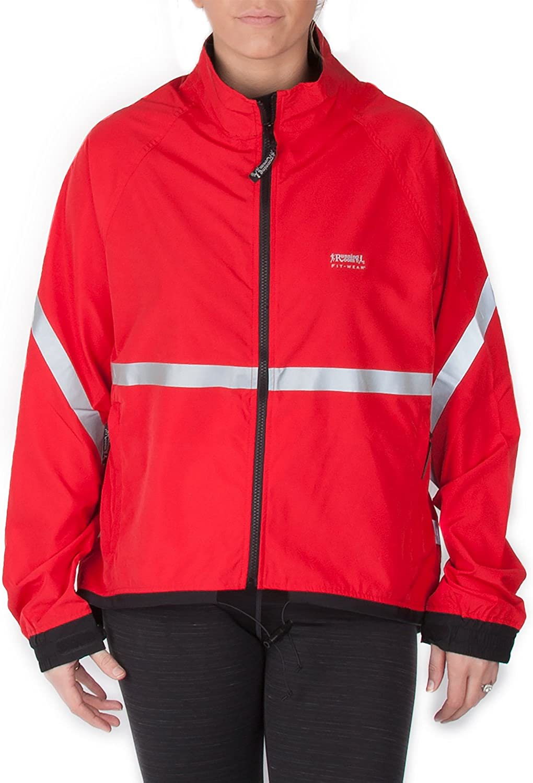 Running Room Unisex Reflective Jacket with Pockets (RFTReflect JKT 1377260 XSM Red)