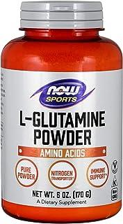 NOW Sports Nutrition, L-Glutamine Pure Powder, Nitrogen Transporter*, Amino Acid, 6-Ounce