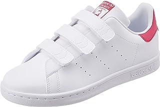 adidas Originals Stan Smith CF C, Baskets Mixte Enfant, Cloud White/Cloud White/Bold Pink, 33.5 EU