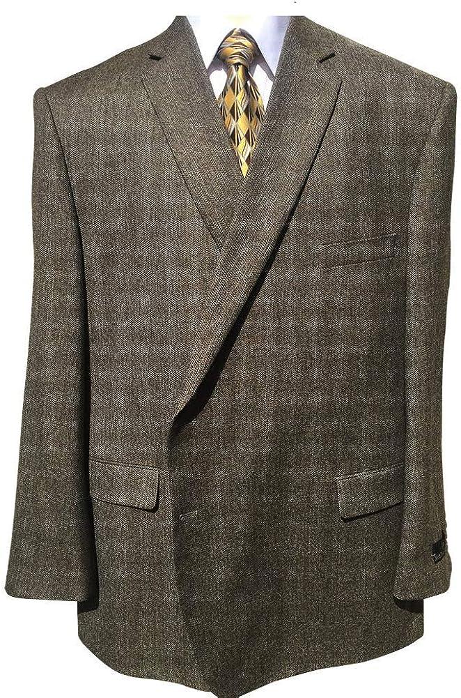 Jean-Paul Germain Oatmeal Herringbone Executive Portly Big and Tall Sport Jacket
