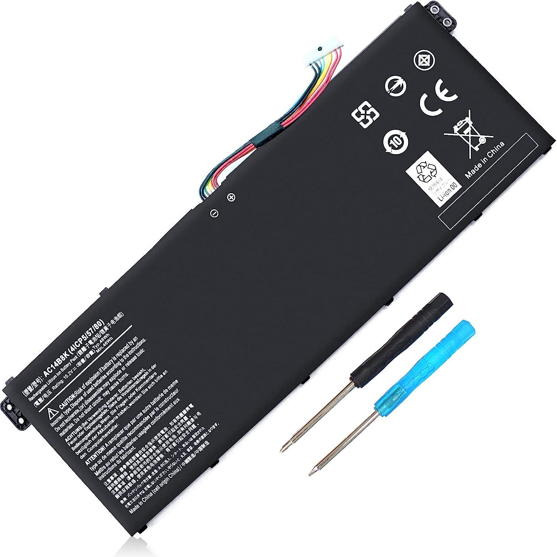 AC14B8K 4ICP5/57/80 Battery for Acer Aspire 5 A515-51 V3-372T R5-571T R7-371 ES1-511 ES1-512 ES1-531 ES1-711-P1UV Nitro 5 AN515-51 Spin SP111-31 Chromebook CB3-531 CB3-531-C4A5 CB5-571 Swift 3 SF314