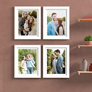 Painting Mantra Art Street Set of 4 Individual Couple Photo Frame/Wall Hanging for Home Décor - White