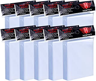 1000 Counts Card Sleeves Toploaders Fit for Standard Cards, Trading Cards, Soft Clear Baseball Card Sleeves Fit for Footba...