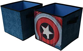 Marvel Avengers Collapsible 2 Pack Storage Cubes, Blue
