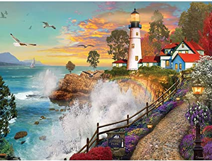 Bits and Pieces - 500 Piece Jigsaw Puzzle for Adults - Lighthouse Park
