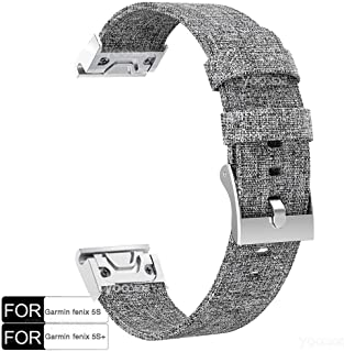 Fenix 5S /Fenix 5S Plus Watch Band,YOOSIDE 20mm Quick Fit Woven Nylon Canvas Watch Band Strap for Garmin Fenix 5S /Fenix 5...