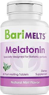 BariMelts Melatonin, Dissolvable Bariatric Vitamins, Natural Mint Flavor, 60 Fast Melting Tablets