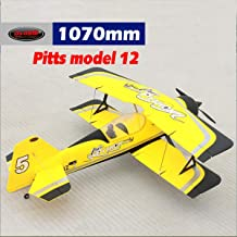 DYNAM RC Airplane Pitts Model 12 Yellow 1070mm Wingspan -PNP