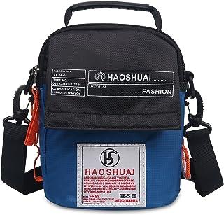 JAKAGO Women / Men Shoulder Bag Small Handbag Waterproof Waist bag Cellphone Pouch with Shoulder Strap for Sports Hiking Camping Outdoor Climbing Travel (Light Blue)
