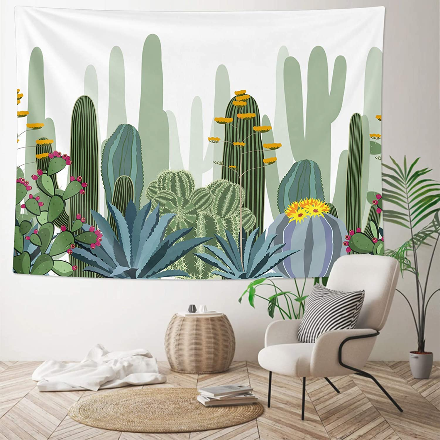 HOMKUMY OFFicial site Cactus Wall Tapestry Psychedel Hippie Bohemian Elegant
