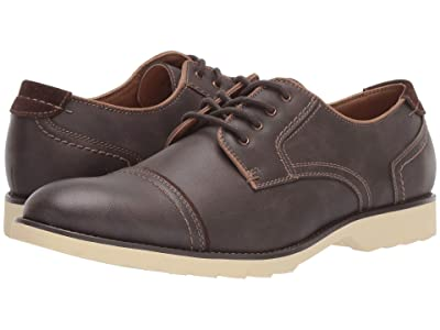 Dockers Murray Cap Toe Oxford (Dark Brown Distressed Synthetic) Men