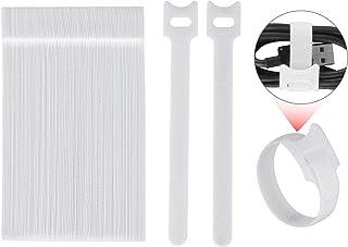 100pcs Reusable Fastening Cable Ties, Xcellent Global 6 Inch Adjustable Cord Zip Ties, Adjustable Fastener Cable Strap Hoo...